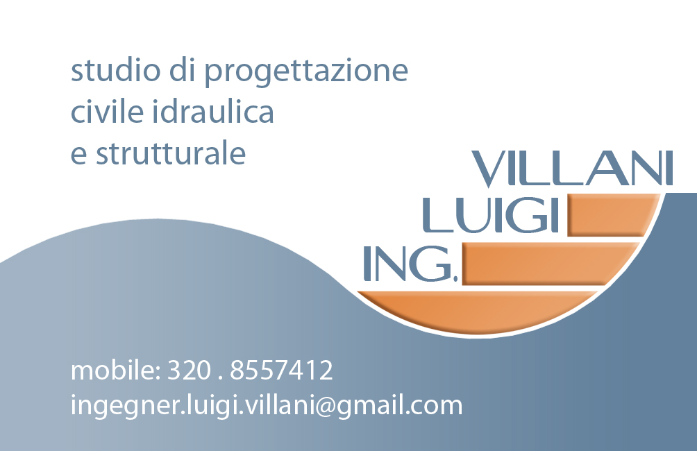 logo business card ing. villani-architetto locuratolo-minervino murge-BAT-puglia